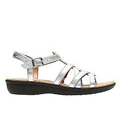 Clarks - Metallic leather 'Manilla Bonita' sandals