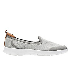 Clarks - Grey 'Step Allena Lo' slip-on shoes