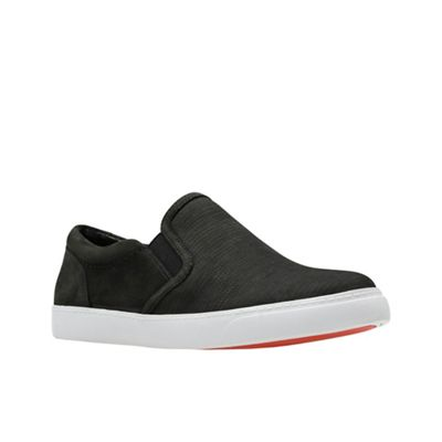 Clarks - Black nubuck 'Glove Puppet' slip-on shoes