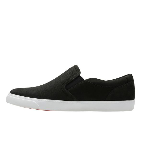 Clarks nubuck shoes 'Glove Black on Puppet' slip r6wq8vHrx
