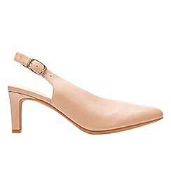 Clarks - Natural leather 'Calla Violet' mid heel court shoes