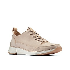 Clarks - Natural nubuck 'Tri Spark' trainers