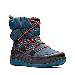 Clarks - Aqua 'Cabrini Alp' mid wedge heel boots