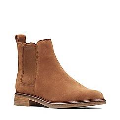 Clarks - Dark tan suede 'Clarkdale Arlo' Chelsea boots