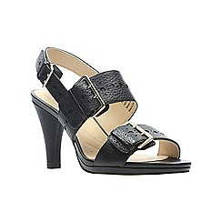 f532f095207d Clarks - Black leather  Dalia Erica  high heel sandals