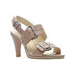Clarks - Natural leather 'Dalia Erica' high heel sandals