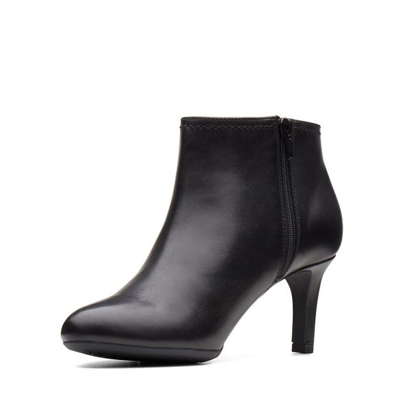 Sky' mid boots leather heel Clarks 'Dancer Black qtZOIO