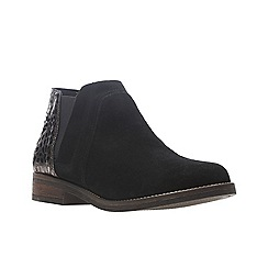 Clarks - Black suede 'Demi Beat' boots