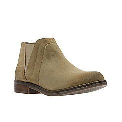 Clarks - Natural suede 'Demi Beat' Chelsea boots