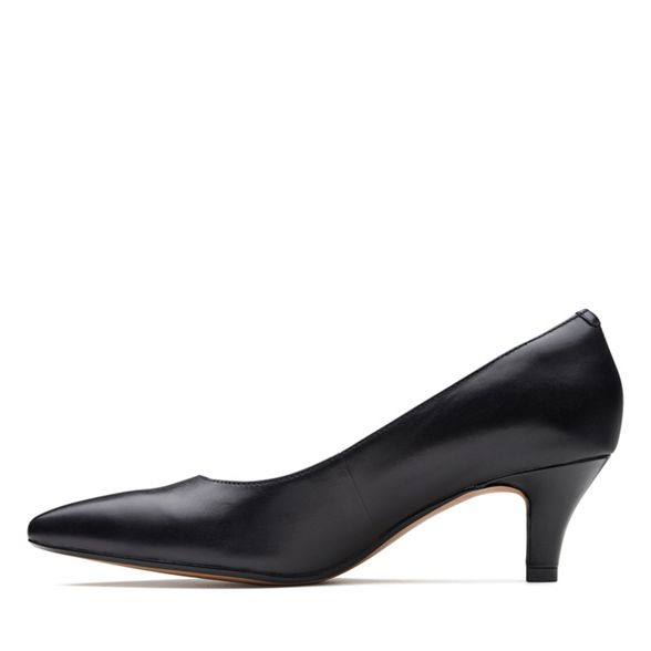 mid heel court 'Linvale kitten Clarks leather Black Jerica' shoes TBwROHPn