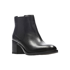 Clarks - Black leather 'Mascarpone Bay' mid block heel Chelsea boots