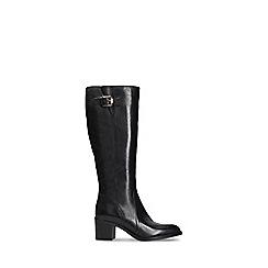 Clarks - Black leather 'Mascarpone Ela' mid block heel knee high boots
