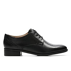 Clarks - Black leather 'Netley Rose' brogues