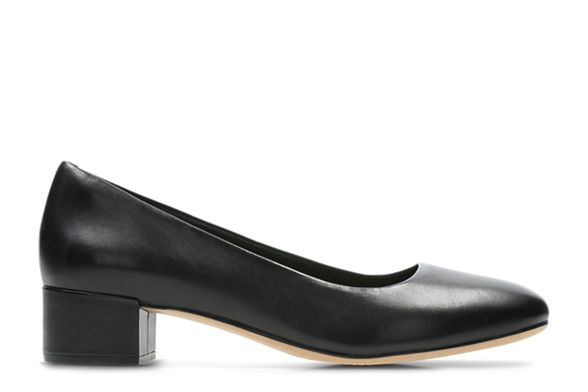Black heel court 'Orabella block Alice' shoes leather Clarks UxaSq66