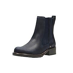 Clarks - Navy blue nubuck 'Orinoco Club' Chelsea boots