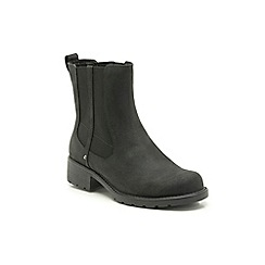 Clarks - Black leather 'Orinoco Club' Chelsea boots