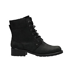 Clarks - Black leather 'Orinoco Spice' lace-up boots
