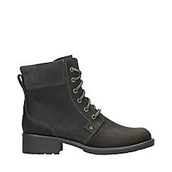 Clarks - Grey Nubuck 'Orinoco Spice' Mid Block Heel Ankle Boots