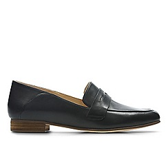 Clarks - Black leather 'Pure Iris' loafers