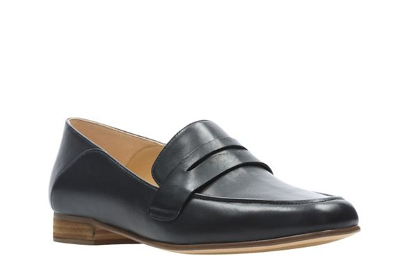 loafers leather Iris' 'Pure Black Clarks XfBwqOB