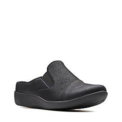 Clarks - Black 'Sillian Free' slip-on shoes