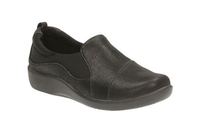 Clarks - Black 'Sillian Paz' slip-on shoes