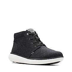 Clarks - Black 'Step Move Hi' lace-up boots