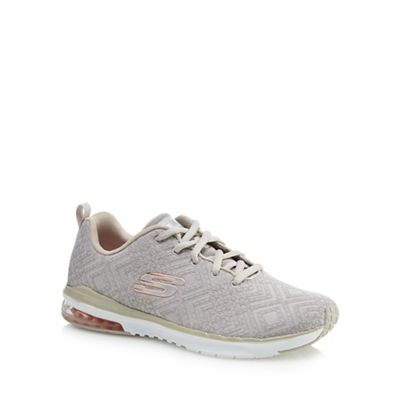 Skechers - Taupe knit 'Air Infinity All Aglow' trainers