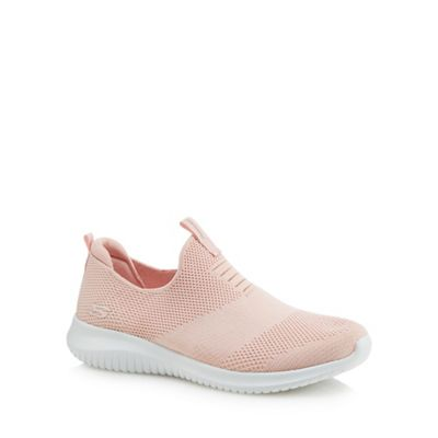Skechers - Pink 'Ultra Flex First Take' slip-on trainers