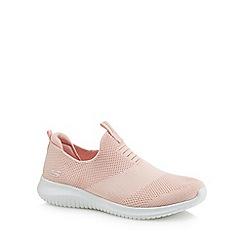 Skechers - Pink 'Ultra Flex First Take' slip-on trainers