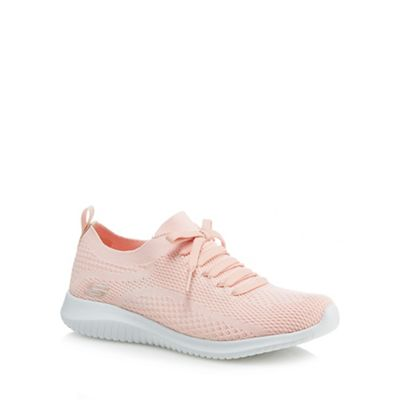 705ab3c04fc0 Skechers Light pink  Ultra Flex Statements  trainers