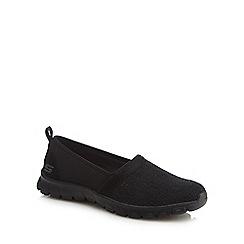 Skechers - Black 'Ez Flex 3 Quick Escapade' slip-on trainers