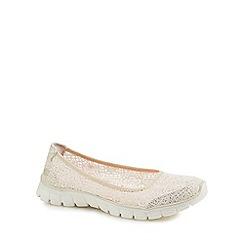 Skechers - White lace 'EZ Flex 3.0 Beautify' slip-on shoes