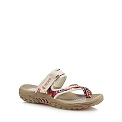 Skechers - Natural 'Reggae Zig Swag' sandals