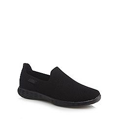 Skechers - Black knit 'You Walk Define' slip-on trainers