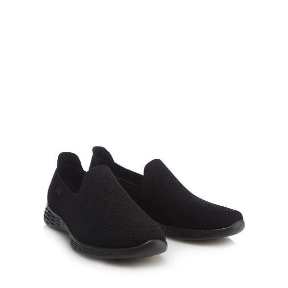 Define' Walk on 'You slip knit trainers Skechers Black ItRPOS