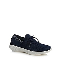 Skechers - Navy knit 'You Spirit' trainers