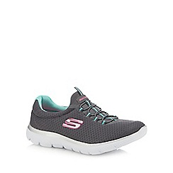 Skechers - Dark grey  Summits  slip-on trainers 3e01e7326bf3