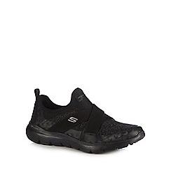 Skechers - Black 'Flex Appeal 3.0' slip-on trainers