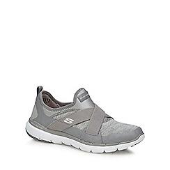 Skechers - Silver 'Flex Appeal 3.0' trainers