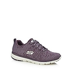 Skechers - Plum knitted 'Flex Appeal 3.0' trainers