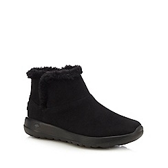 Skechers - Black suede 'On The Go Joy' ankle boots