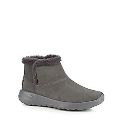 Skechers - Grey suede 'On The Go Joy' ankle boots