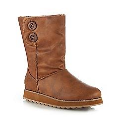Skechers - Brown 'Keepsakes 2.0' wedge heel ankle boots