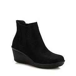 Skechers - Black 'Rumblers Beam Me Up' Wedge Heel Chelsea Boots