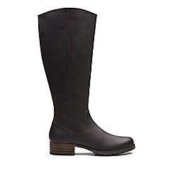 Clarks - Brown leather 'Marana Trudy' mid block heel calf boots