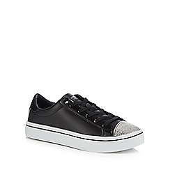 Skechers - Black leather 'Hi-Lites On Point' trainers