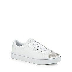 Skechers - White leather 'Hi-Lites On Point' trainers