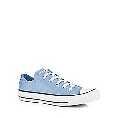 Converse - Light blue glitter canvas 'Chuck Taylor All Star' trainers