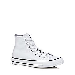 Converse - White glitter canvas 'All Star' hi-top trainers